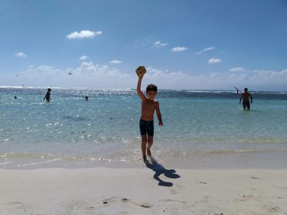 My son enjoying the beach